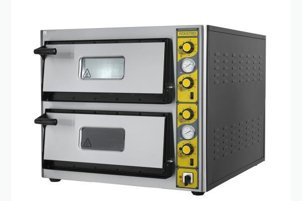 NLE-T 26 Elektrikli Pizza Fırını-Çift Katlı Termometreli