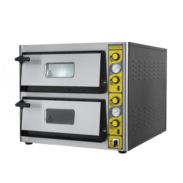 NLE-T 24 Elektrikli Pizza Fırını-Çift Katlı Termometreli